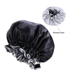 Load image into Gallery viewer, Locs & Natural Hair Satin Reversible Bonnets