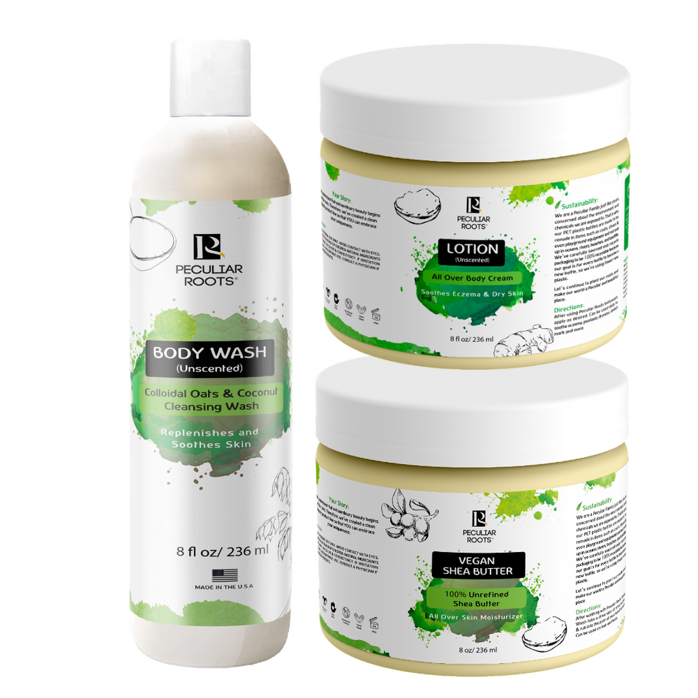 Unscented Eczema-Prone Skincare Bundle