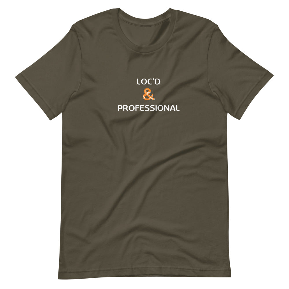 Load image into Gallery viewer, Loc'd & Professional Short-Sleeve Unisex T-Shirt