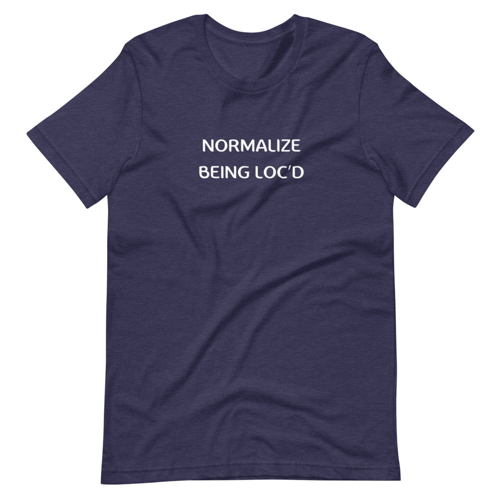 Load image into Gallery viewer, Normalize Being Loc'd Short-Sleeve Unisex T-Shirt
