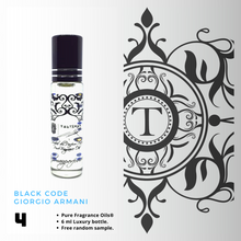 Load image into Gallery viewer, Black Code - Armani - Him - Talisman Perfume Oils®