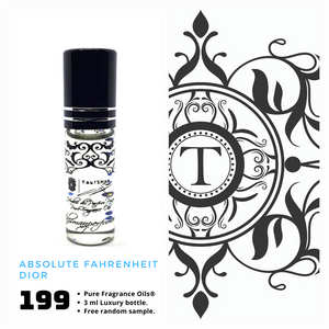Absolute Fahrenheit - Dior - Him - Talisman Perfume Oils®