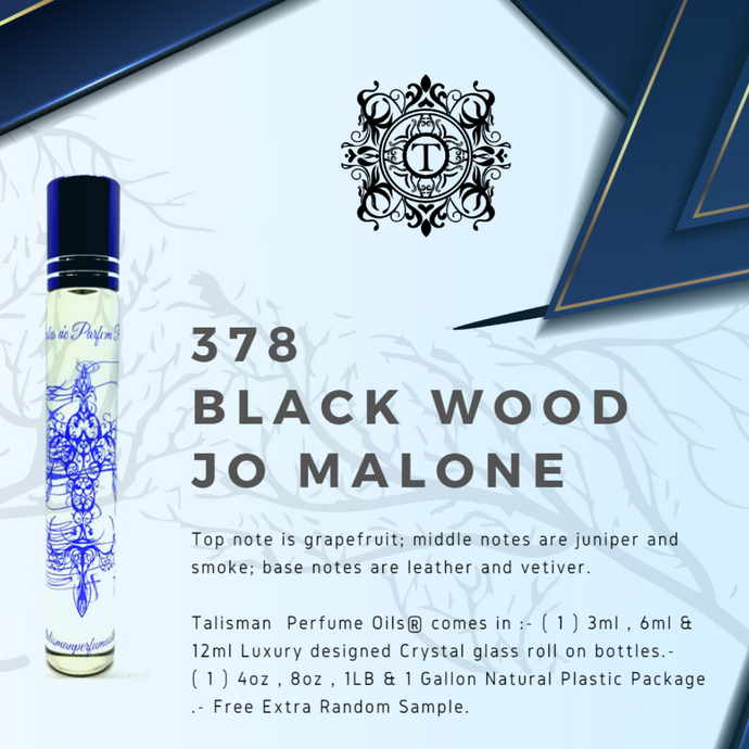 Black Wood | Fragrance Oil - Him - 378 - Talisman Perfume Oils®