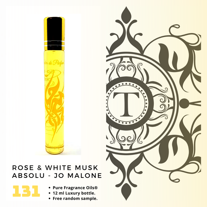 Rose & White Musk Absolu | Fragrance Oil - Unisex - 131 - Talisman Perfume Oils®
