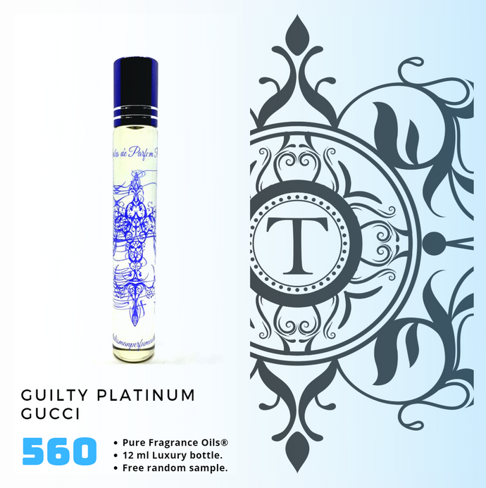 Guilty Platinum Inspired | Fragrance Oil - Him - 560 - Talisman Perfume Oils®