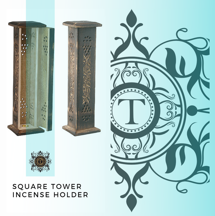Square Incense Tower - Antique Style