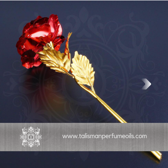 24K Gold Roses | Red