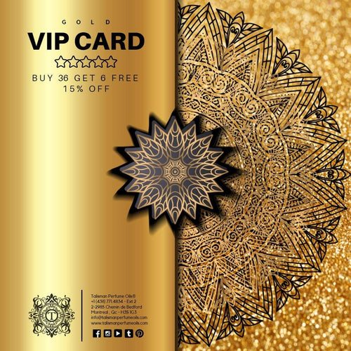 GOLD VIP CARD - BUY 36 GET 6 FREE + 15% OFF