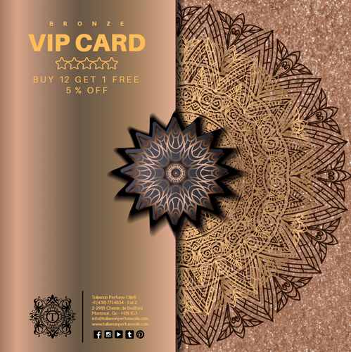 BRONZE VIP CARD - BUY 12 GET 1 FREE + 5% OFF