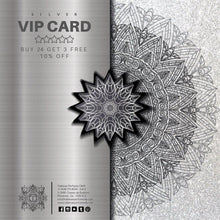 Load image into Gallery viewer, SILVER VIP CARD - BUY 24 GET 3 FREE + 10% OFF