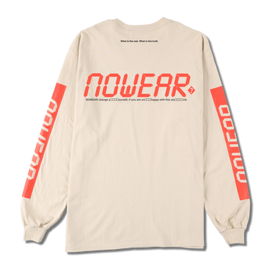 NW-TS-005 NOWEAR Digital Logo Long Sleeve T-shirts