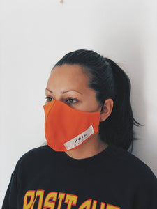 ADULT ORANGE WRAP ROUND MASK (UNISEX)