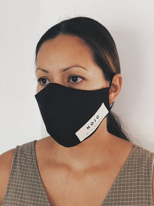 ADULT BLACK WRAP ROUND  MASK (UNISEX)