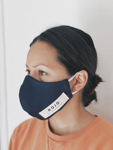 ADULT NAVY WRAP ROUND  MASK (UNISEX)