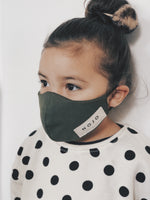 Load image into Gallery viewer, KIDS OLIVE WRAP ROUND PREVENTION MASK