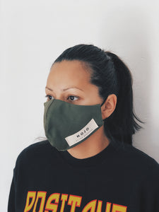 ADULT OLIVE WRAP ROUND PREVENTION MASK (UNISEX)