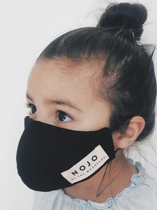 KIDS BLACK WRAP ROUND PREVENTION MASK