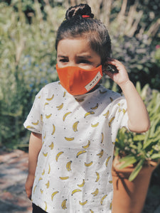 KIDS ORANGE WRAP ROUND PREVENTION MASK