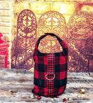Dog Harness Vest Buffalo Plaid Red Black Checked D Ring