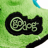 GoDog Just for Me Chew Guard T-Rex Squeaky Plush Dog Toy, Lime