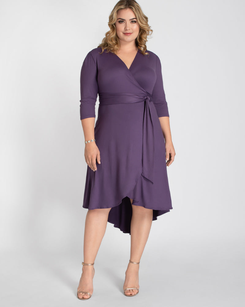 Kiyonna Womens Plus Size Winona Wrap Dress