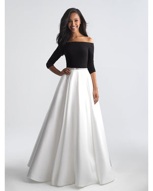 Off the Shoulder 3/4 Sleeve Ballgown, Sizes 0-30