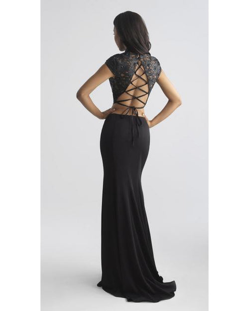 Wine High Neck Two Piece with Slit