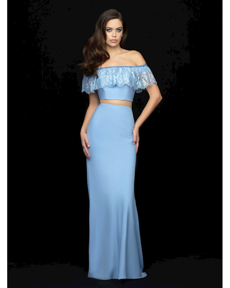 Light Periwinkle Off the Shoulder Two Piece Jersey