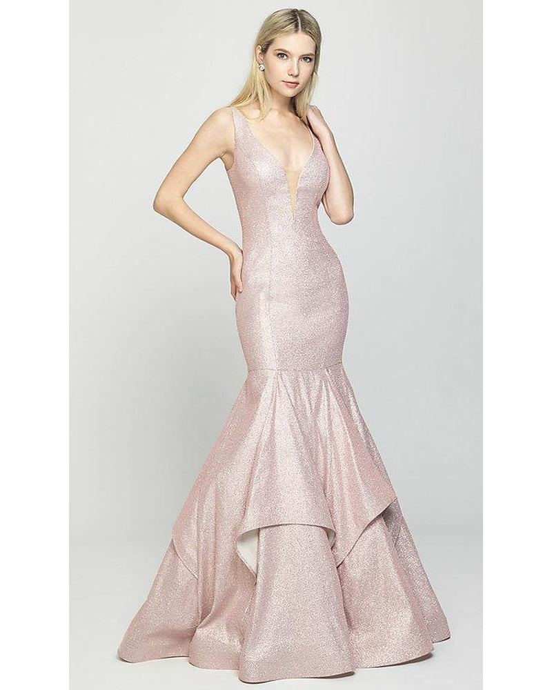 Rose Gold One Piece Mermaid Dress
