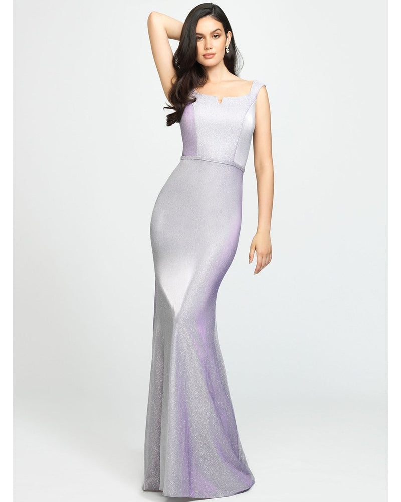 Lilac One Piece Shimmer Straight Dress