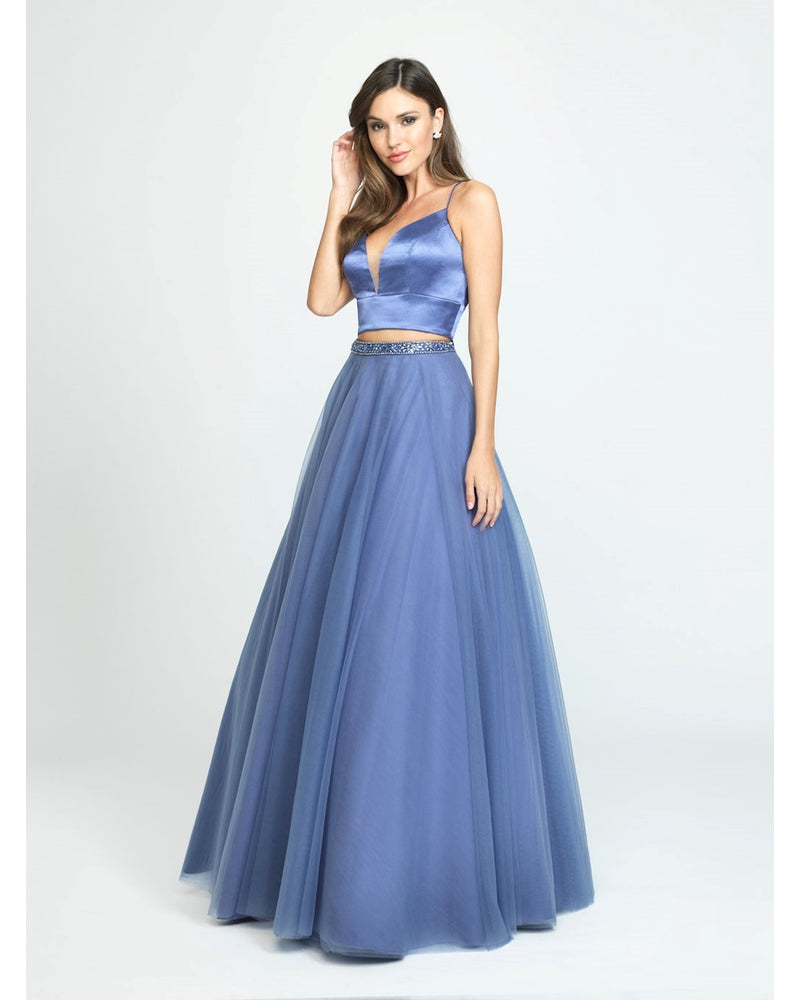 Periwinkle Two Piece Ballgown Dress