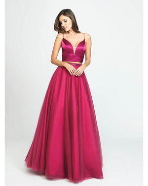 Fuchsia Two Piece Ballgown Dress