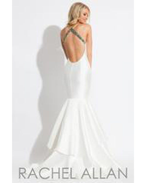 White Tiered Mermaid Dress