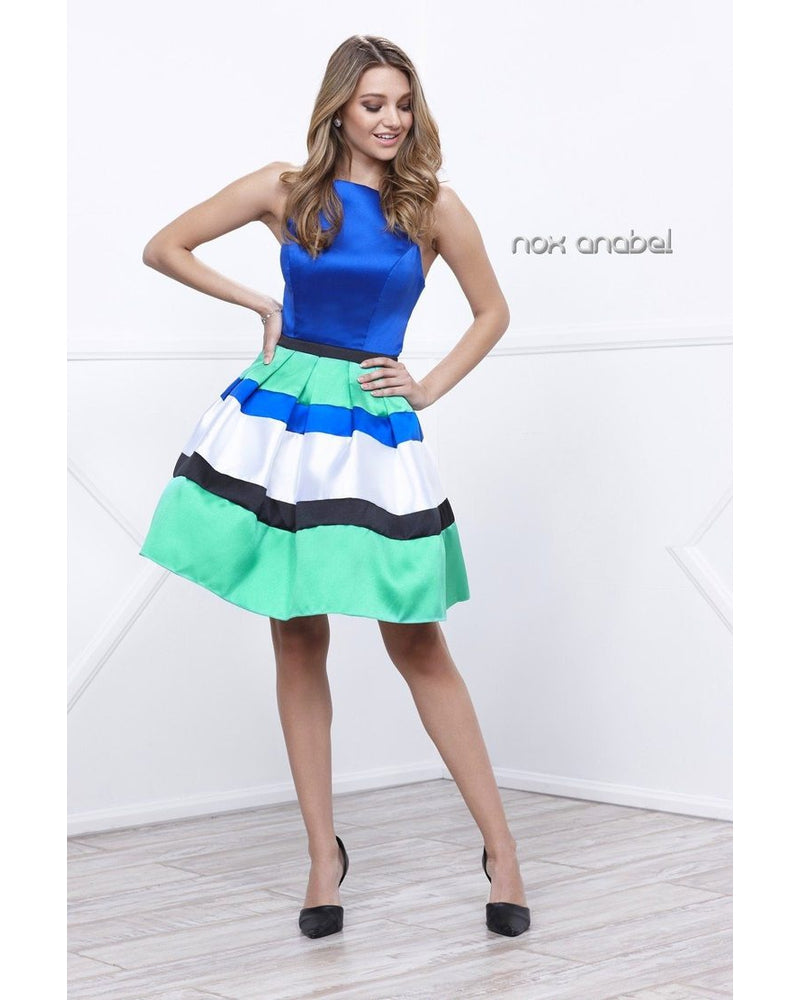 Royal Multi Layered Short Dress