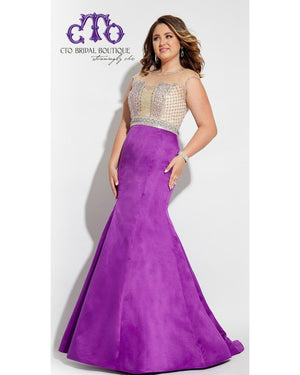 Purple Plus Mermaid Dress