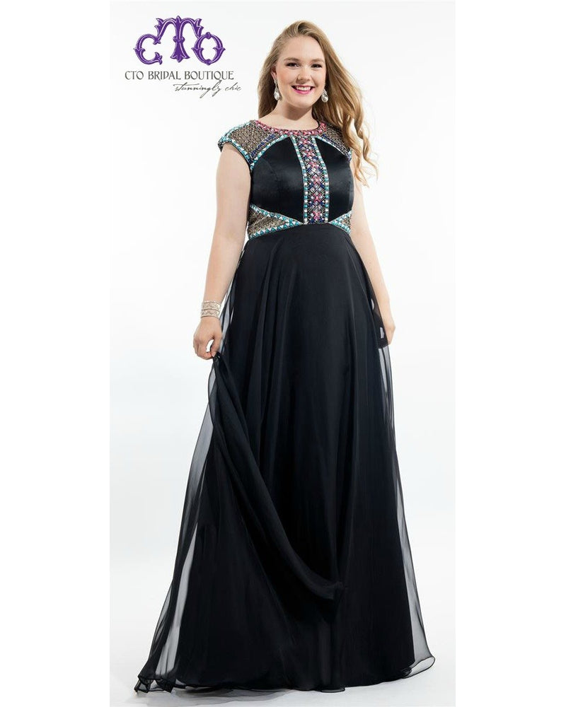 Black Chiffon Long Dress