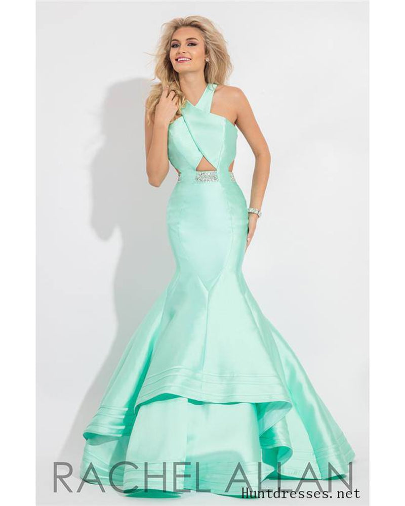 Mint Mikado Long Dress