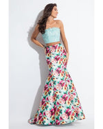 Mint 2 Pcs Long Mermaid Dress