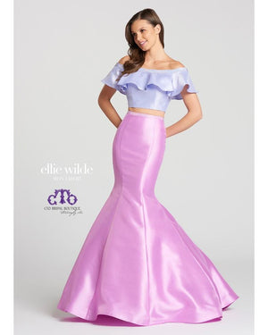 Lavender/Purple Off the Shoulder Two Piece Mermaid