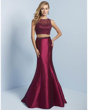 Berry Two Piece Shimmer Mermaid Dress