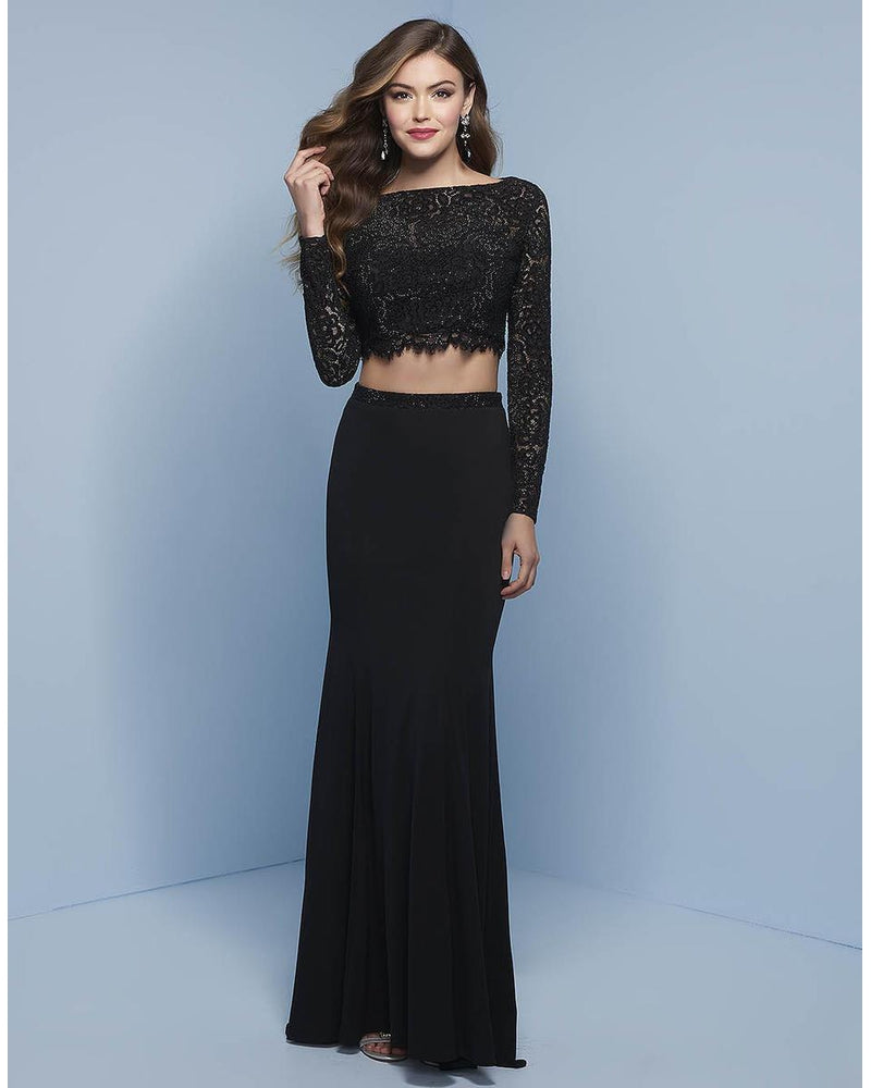 Black Two Piece Long Sleeve Dress