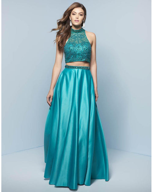 Majestic Two Piece High Neck Dress