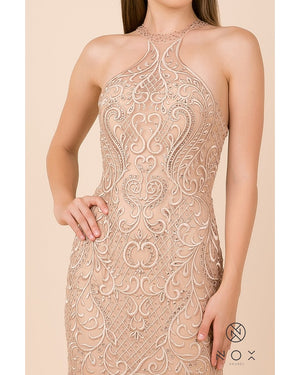 Rose Gold Racerback Mermaid Dress
