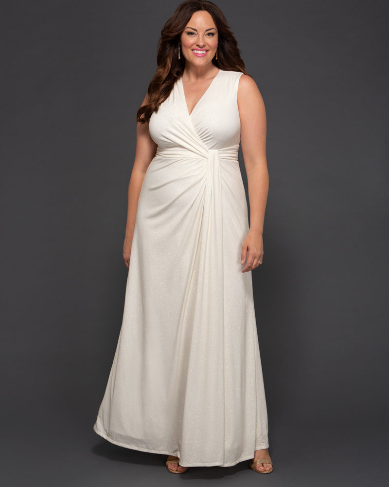 Kiyonna Womens Plus Size Gilded by Moonlight Wedding Gown