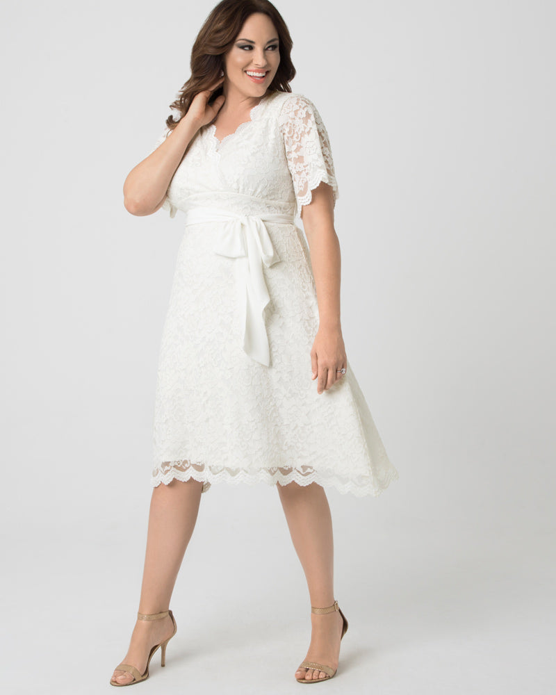Kiyonna Womens Plus Size Graced With Love Wedding Dress