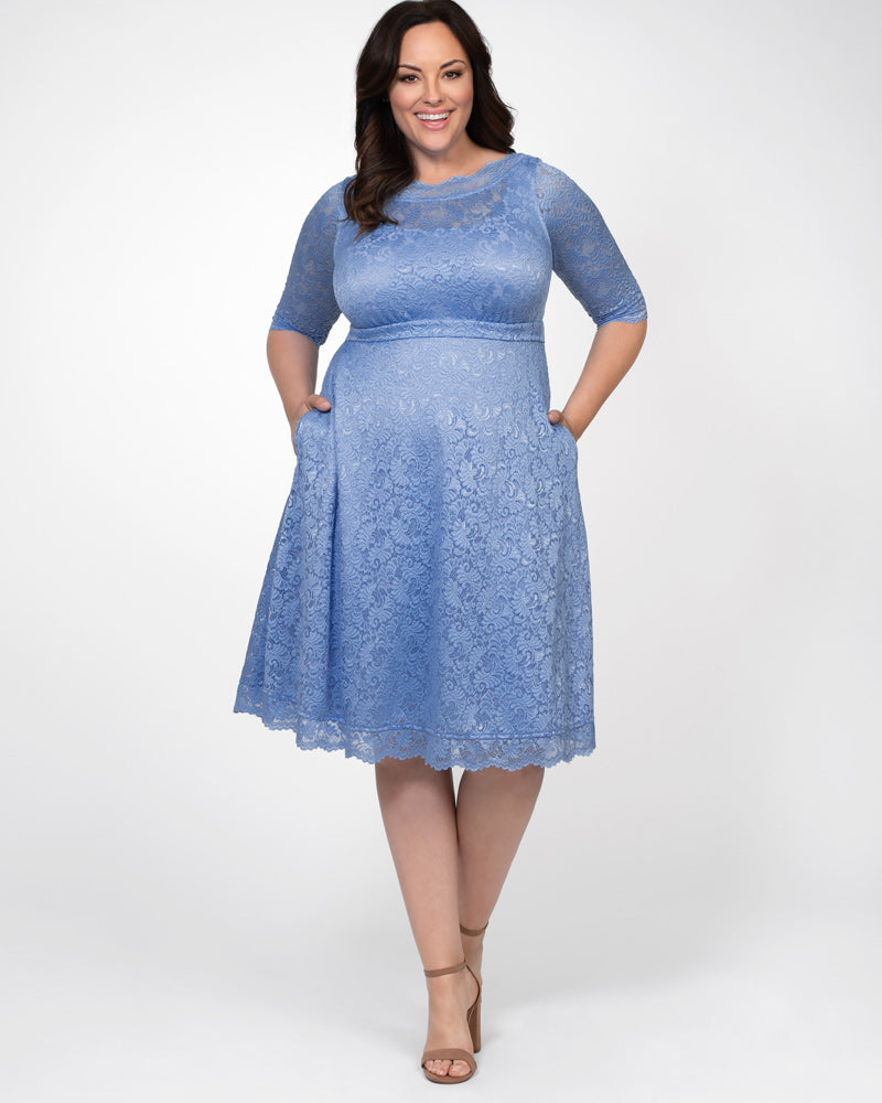 Kiyonna Womens Plus Size Lacey Cocktail Dress