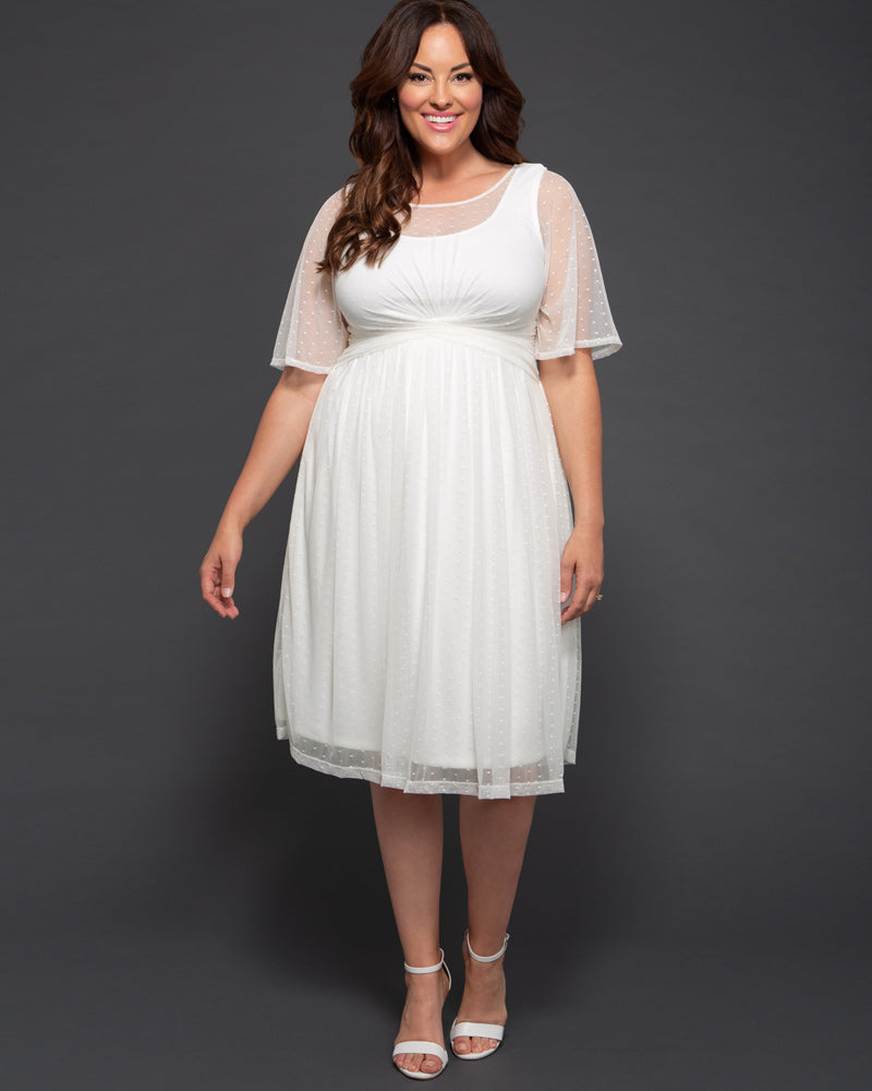 Kiyonna Womens Plus Size Stars A-line Wedding Dress