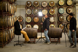 Morten in the barrel room in To Øl City