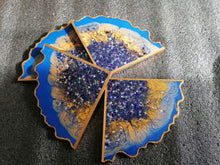 Load image into Gallery viewer, Blue Star Agate Coaster