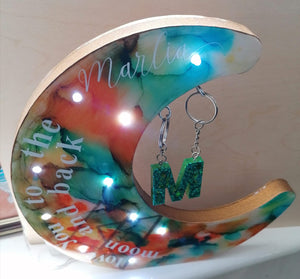 Personalised Crescent Moon Night Lights